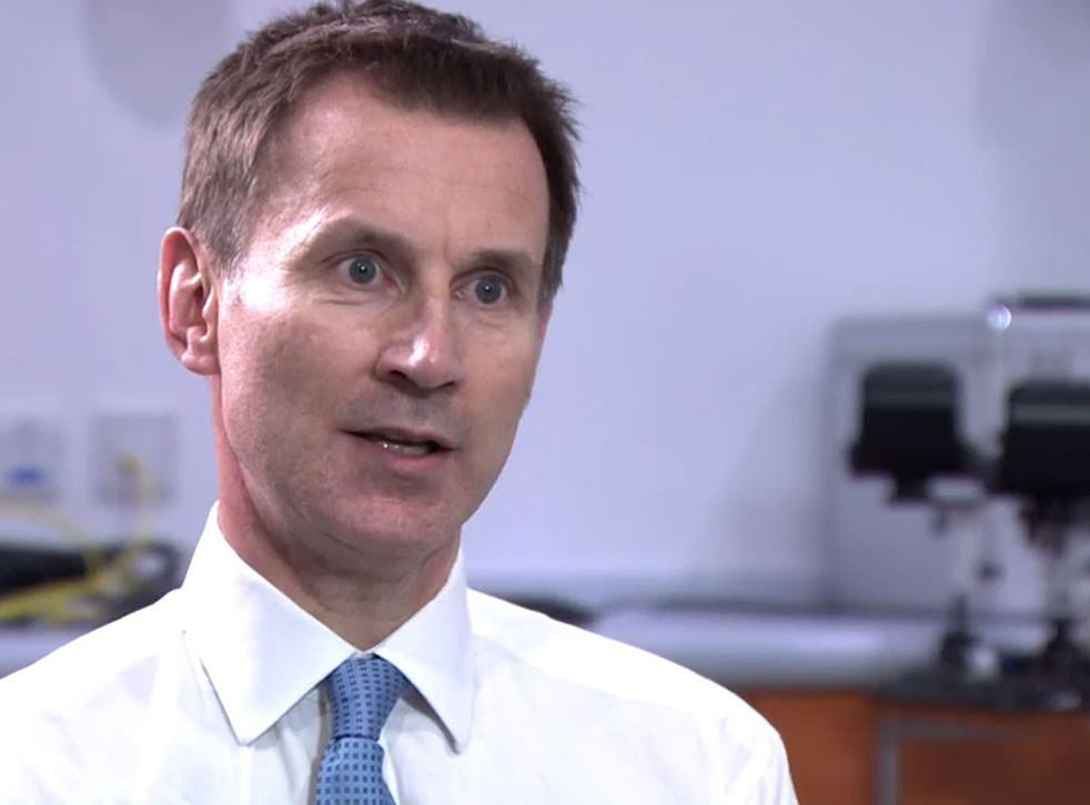 'The particular pressure point we have is A&E,' says Hunt