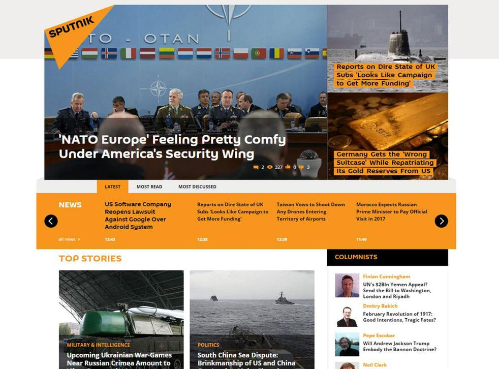 The English-language edition of Sputnik news on 11 February