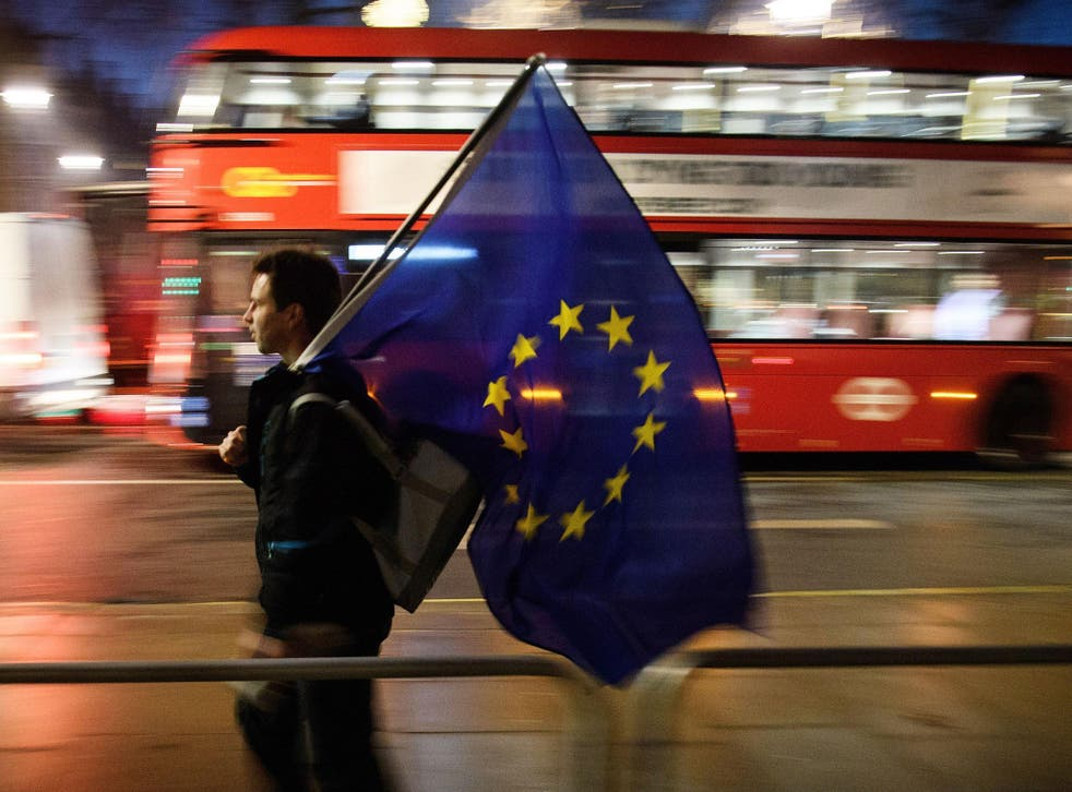 Such a switch in votes would give an overall result of 51.2 per cent to 48.8 per cent in favour of Britain remaining in the EU