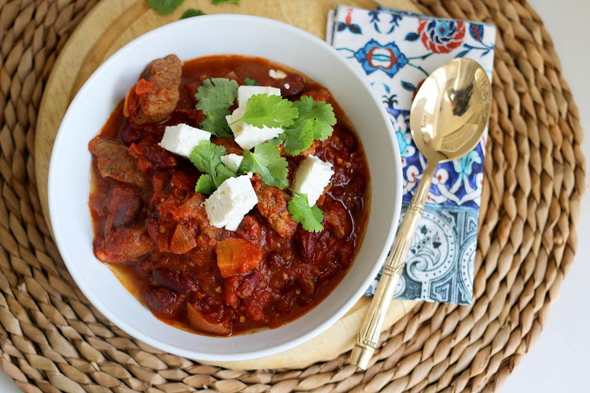 How To Make A Slow Cooked Chunky Beef Chili The Independent The Independent