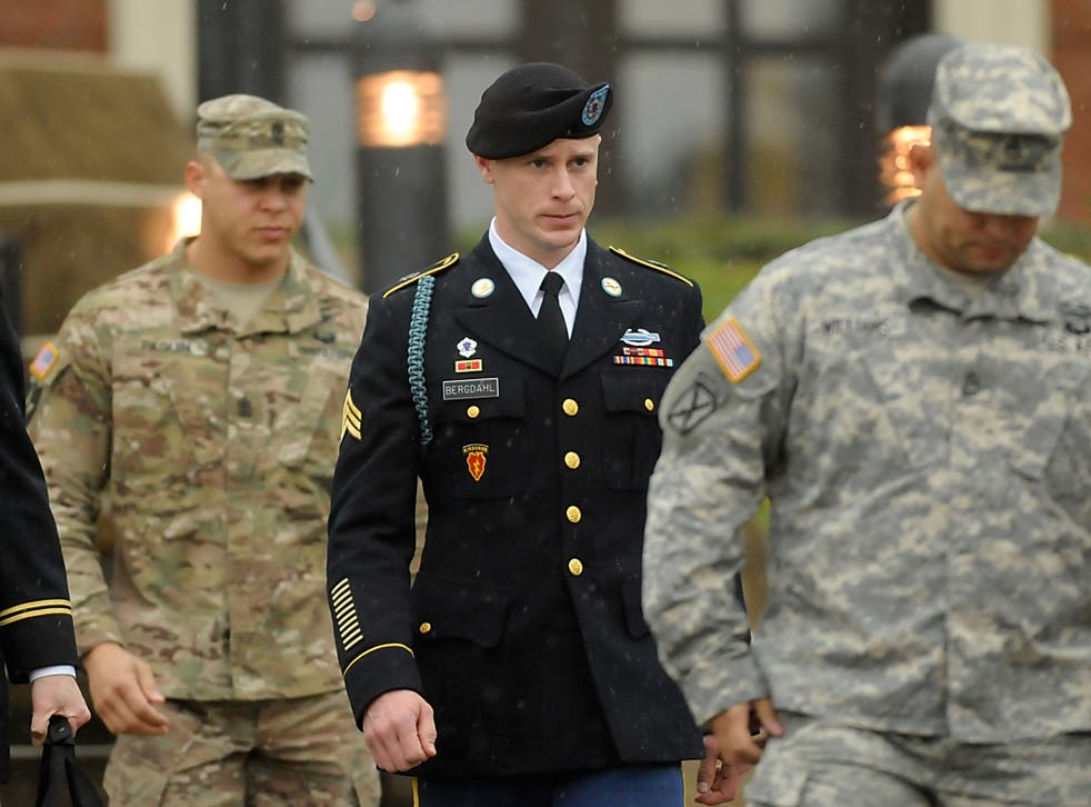 Bergdahl leaves a military courthouse after a December hearing