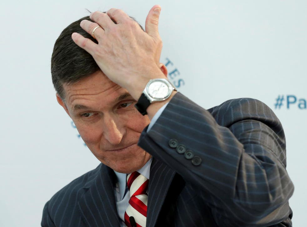 Michael Flynn resigned amid a series of intelligence leakings that he had secretly discussed sanctions with the Russian ambassador