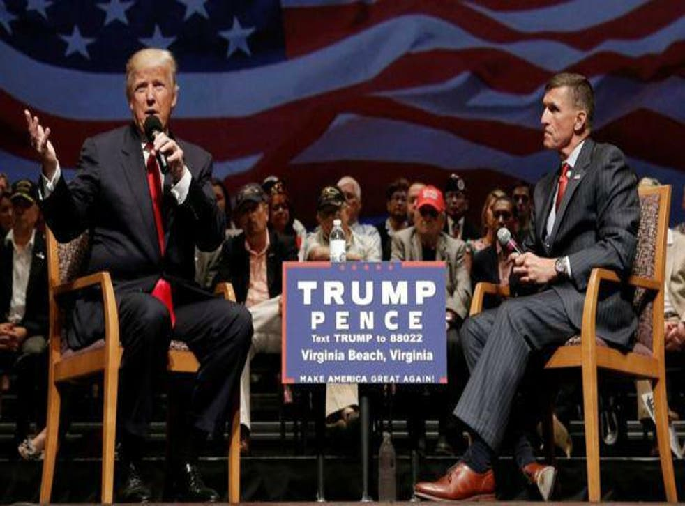 Mr Flynn was an early supporter of Mr Trump