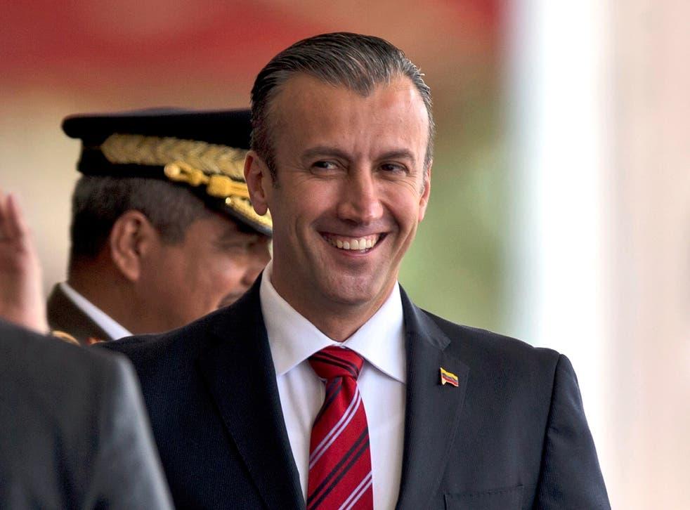 Tareck El Aissami is accused of 'facilitating shipments of narcotics from Venezuela'