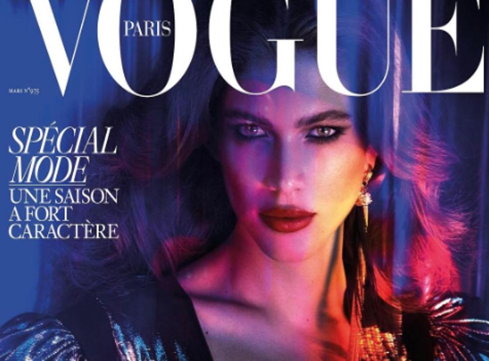 The March issue will be covered by Valentina Sampaio, a Brazilian transgender model