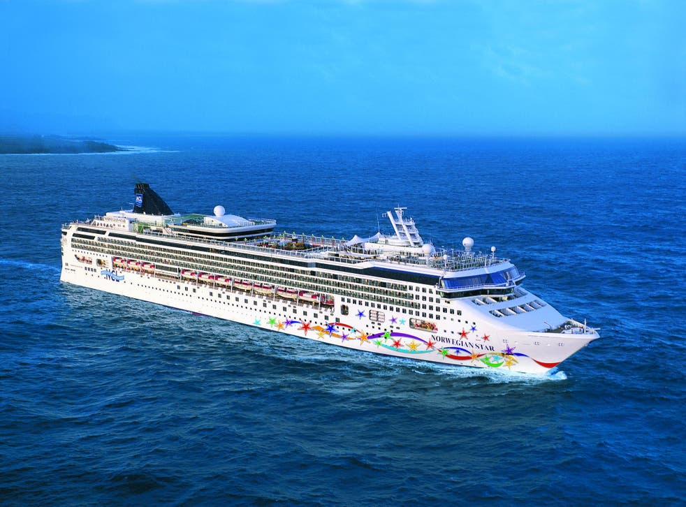 Star turn: after being towed back to port for repairs, Norwegian Star has now set sail again