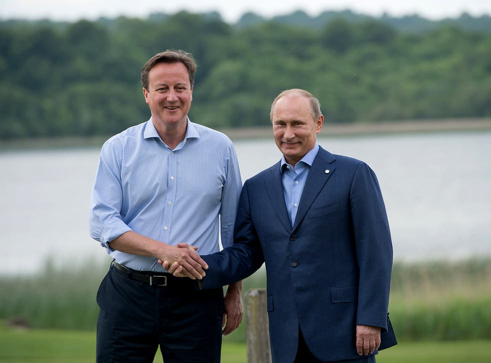 David Cameron and Vladimir Putin at the G8 Summit in Northern Ireland in June 2013