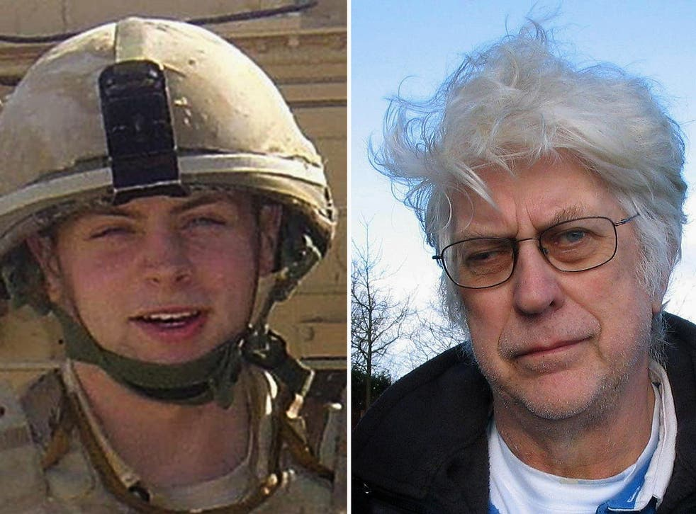 """Rifleman Daniel Lee Coffey, left, who was killed in Iraq, and file photo of his grandfather David Godfrey, who has said Government proposals to reduce legal protections for British troops are """"disgusting"""""""