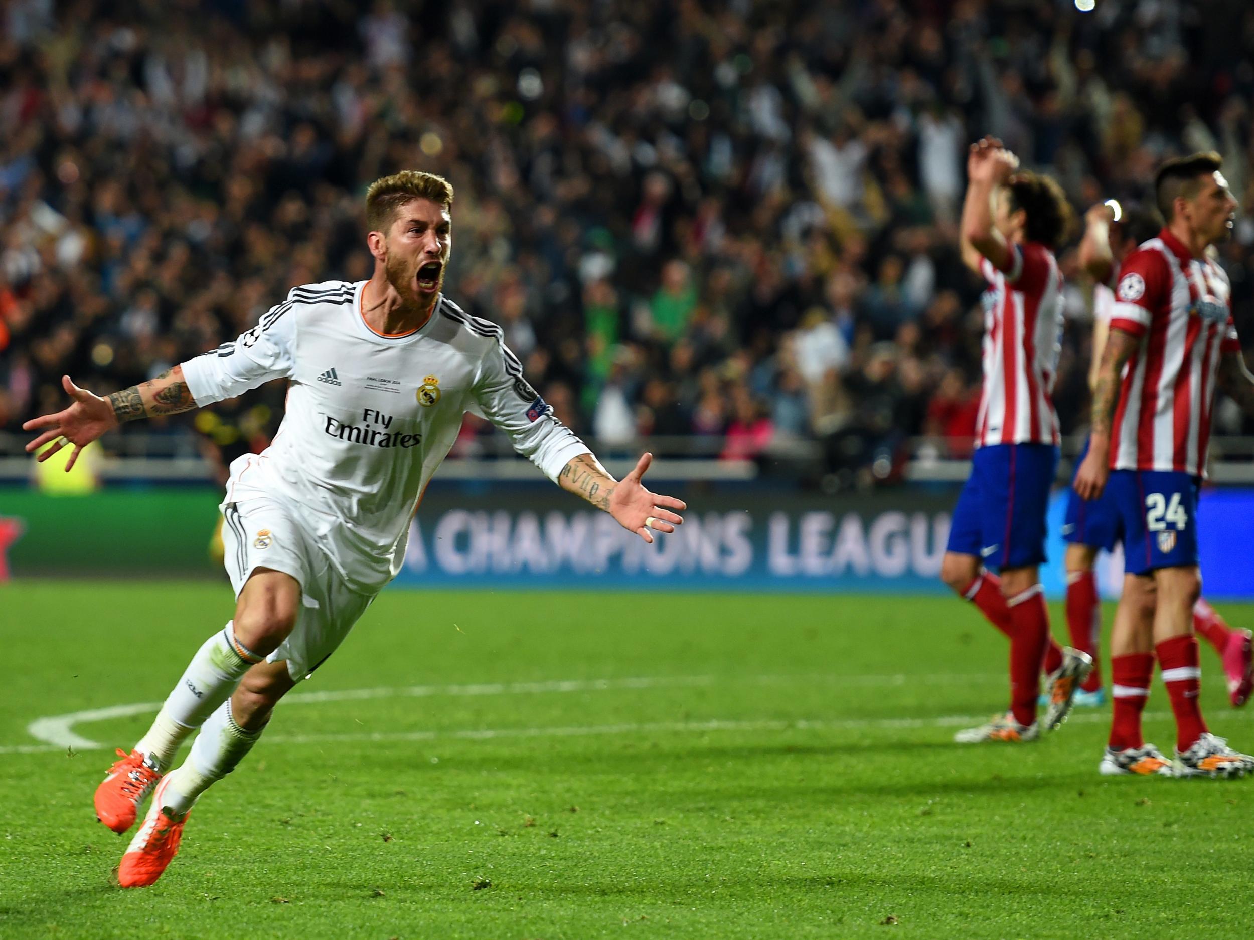 Real Madrid captain Sergio Ramos contemplates changing his shirt