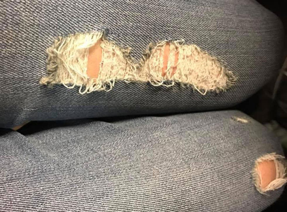 The ripped jeans worn by a 14-year-old girl detained by morality police in Iran