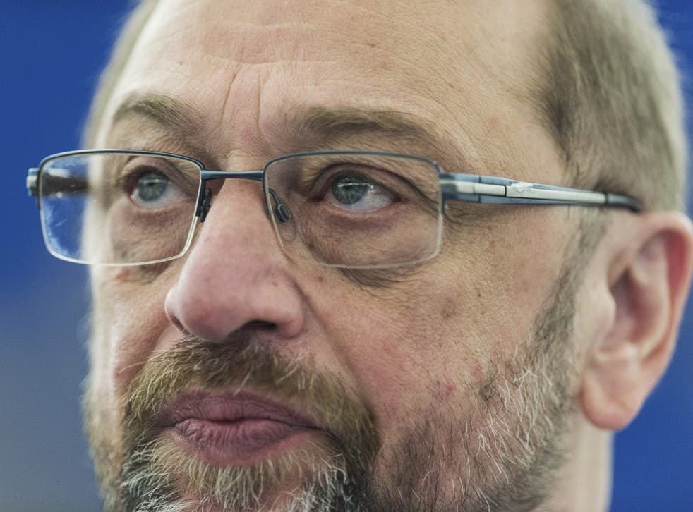 Martin Schulz last month in Strasbourg, France, before stepping down as president of the European Parliament