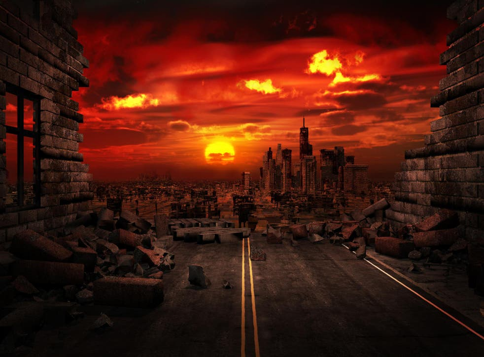 Illustration of a destroyed city