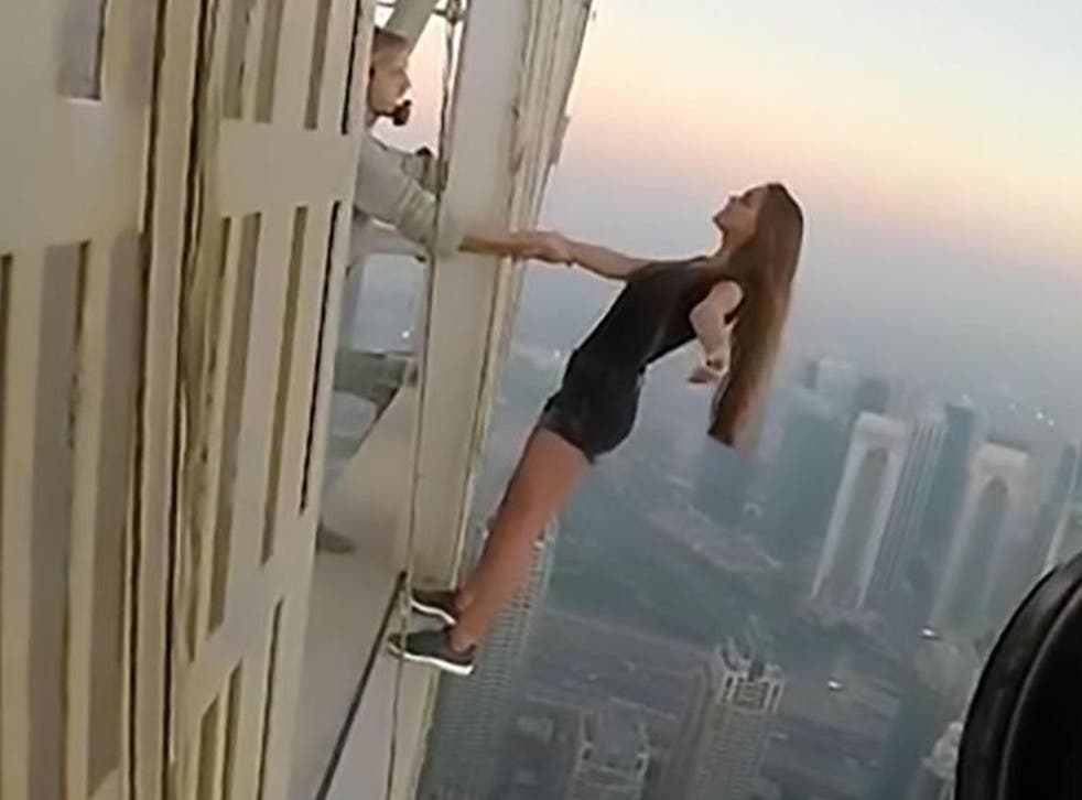 Russian model Viki Odintcova goes to great lengths (and heights) for her Instagram fix