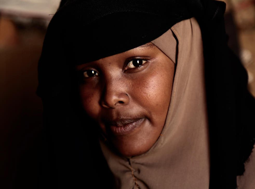 Hodan Ahmedan was sexually assaulted two days prior to this photograph being taken, on her way to the open air lavatories. Most women claim cases of sexual and gender-based violence (SGBV) are on the rise. They blame gangs of young men who operate in the area