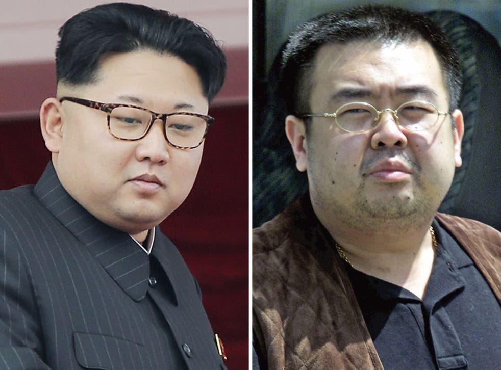 North Korean leader Kim Jong-Un, left, and his half-brother Kim Jong-Nam