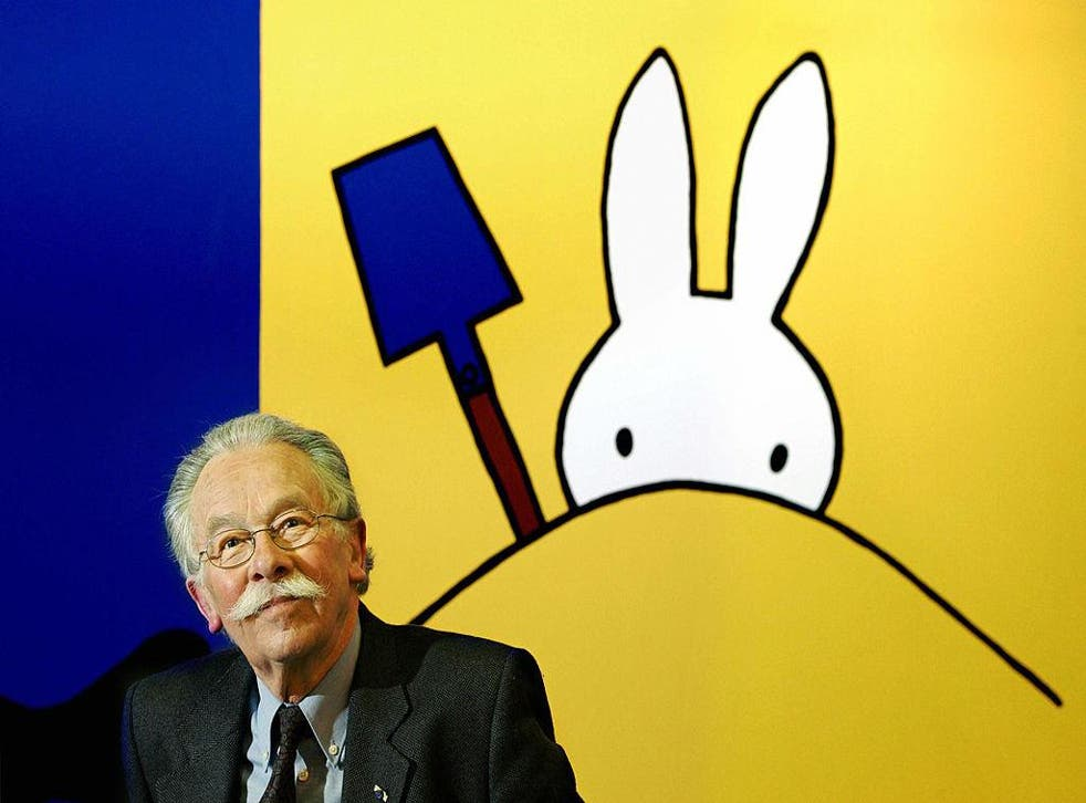 Dick Bruna, the illustrator who created beloved children's character Miffy
