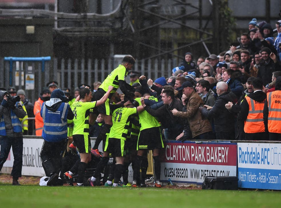 Huddersfield beat Rochdale 4-0 in the last round of the FA Cup