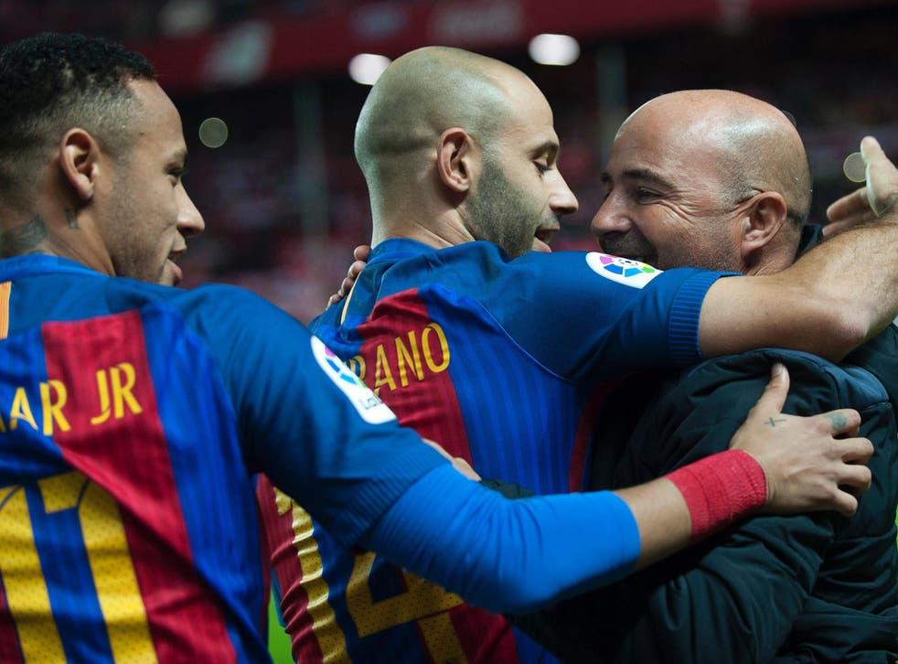 Sevilla coach Jorge Sampaoli is one of Barcelona's prime targets