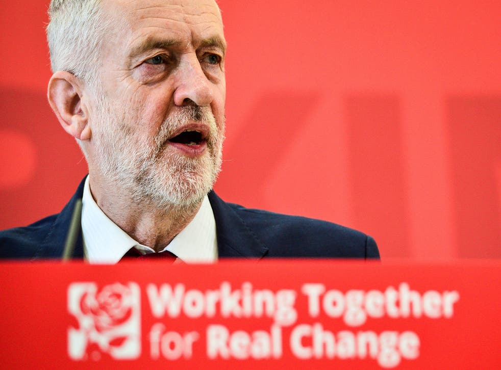 Jeremy Corbyn speaking at Labour's local government conference at Warwick University