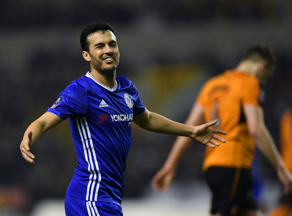 Pedro's header handed the visitors the lead