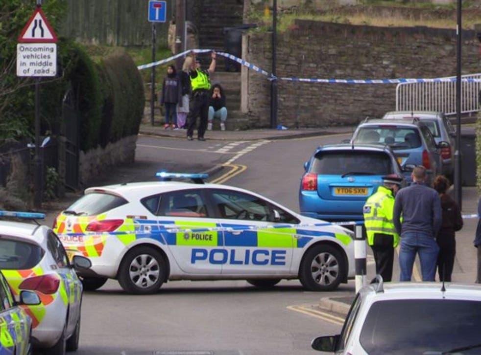 Police on the scene in Daniel Hill