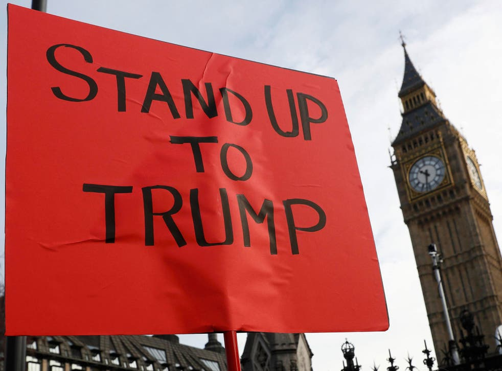 Organisers of an anti-Trump group claim 'more than a million' people are ready to take to the streets if Donald Trump visits the UK