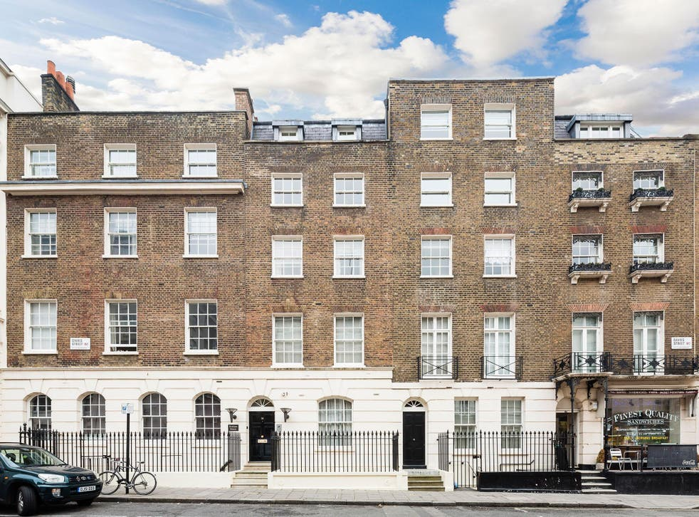 The apartment is located on Davies Street, just down the road from the famous five-star hotel Claridges