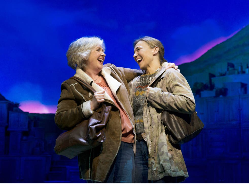 Claire Moore as Chris and Joanna Riding as Annie in 'The Girls' at the Phoenix Theatre