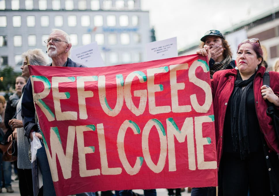 Image result for refugees welcome uk demo