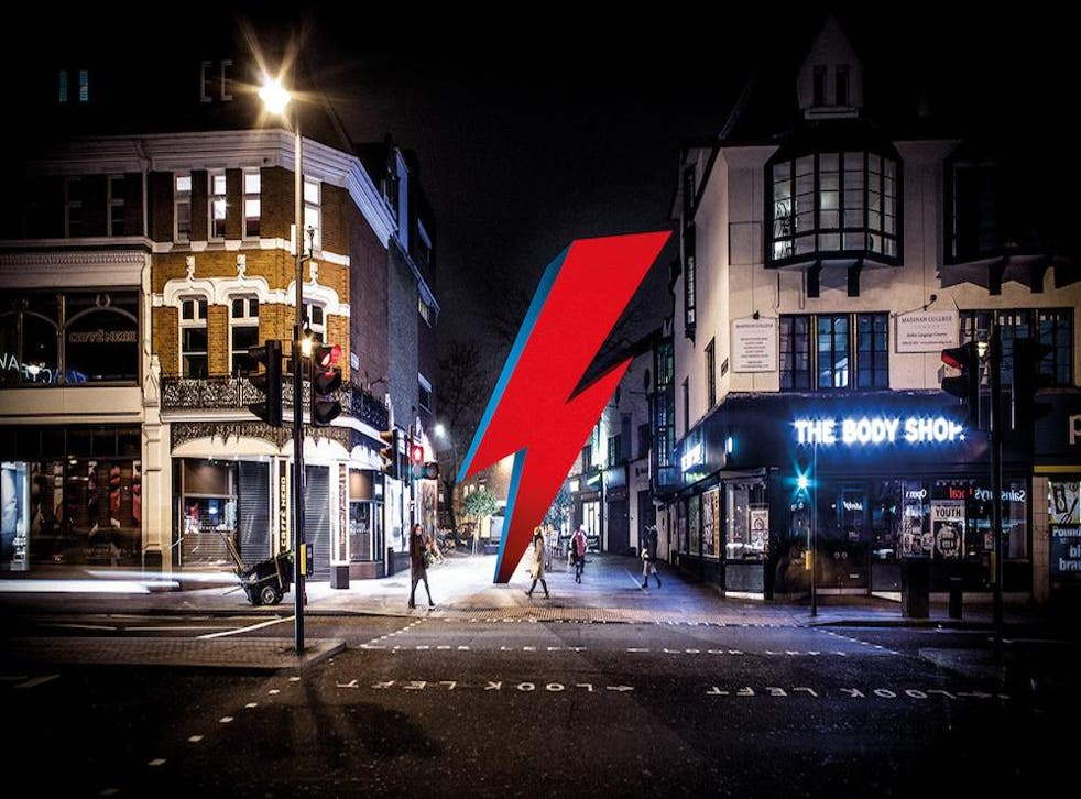 The proposed David Bowie memorial that would be installed opposite Brixton Tube station