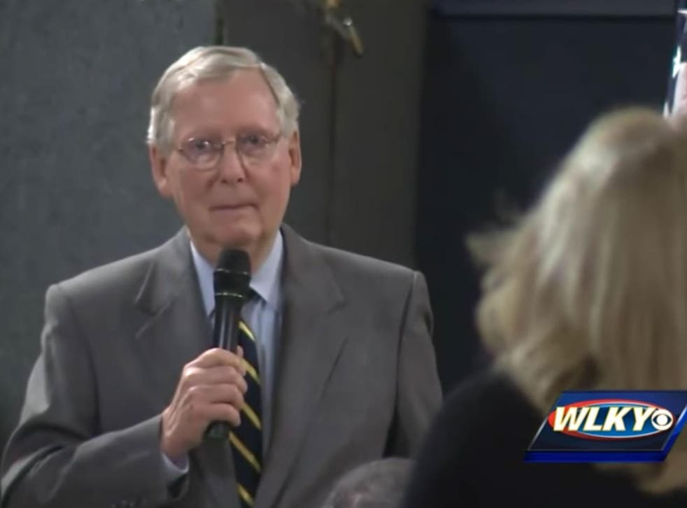Mr McConnell's assertion contradicts that of the President