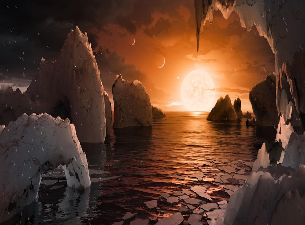 Small, cool stars like this one and Trappist-1 (shown here in an artist's concept) probably offer our best chance of finding alien life