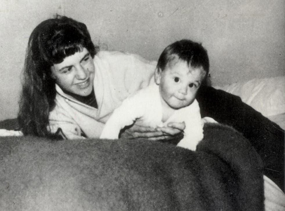 Sylvia Plath and her son Nick in Devon, 1962