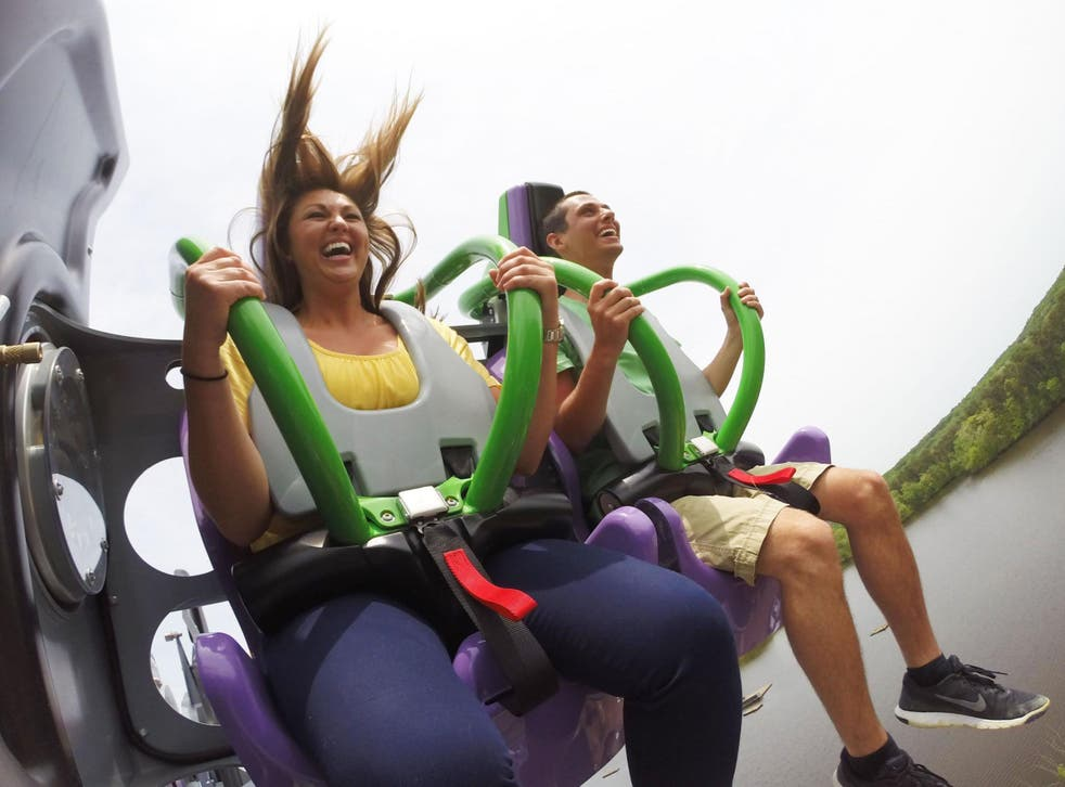 Six Flags' The Joker 4D ride will spin you around during the rollercoaster ride (Tess Claussen/Six Flags)