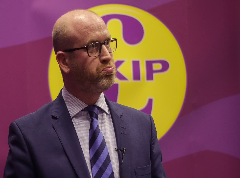 Paul Nuttall has been forced to apologise after making false claims on his website