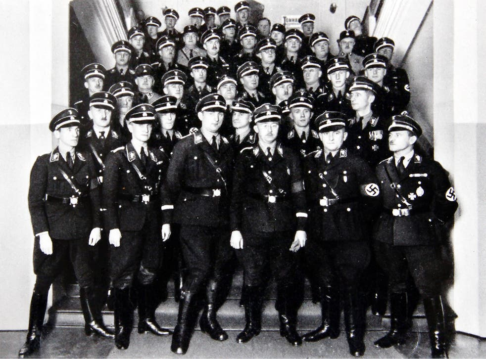 Mein camp: Heinrich Himmler (centre, front row with glasses) and his sartorially splendid SS guards
