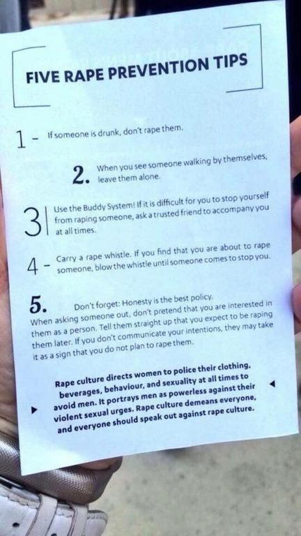 These rape prevention tips are going viral for all the right reasons