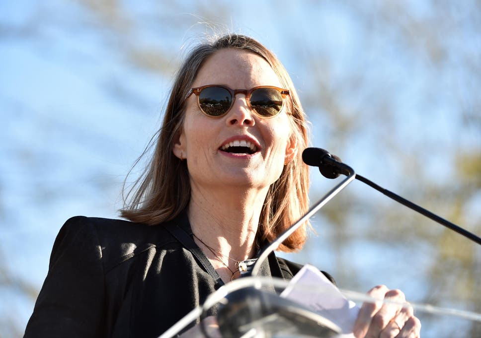 Jodie Foster leads anti-Donald Trump rally: 'This is our time to