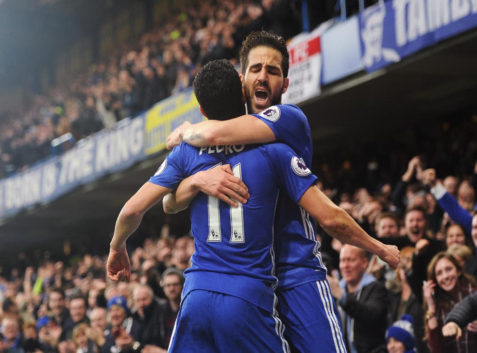 Pedro and Fabregas both found the net for Chelsea