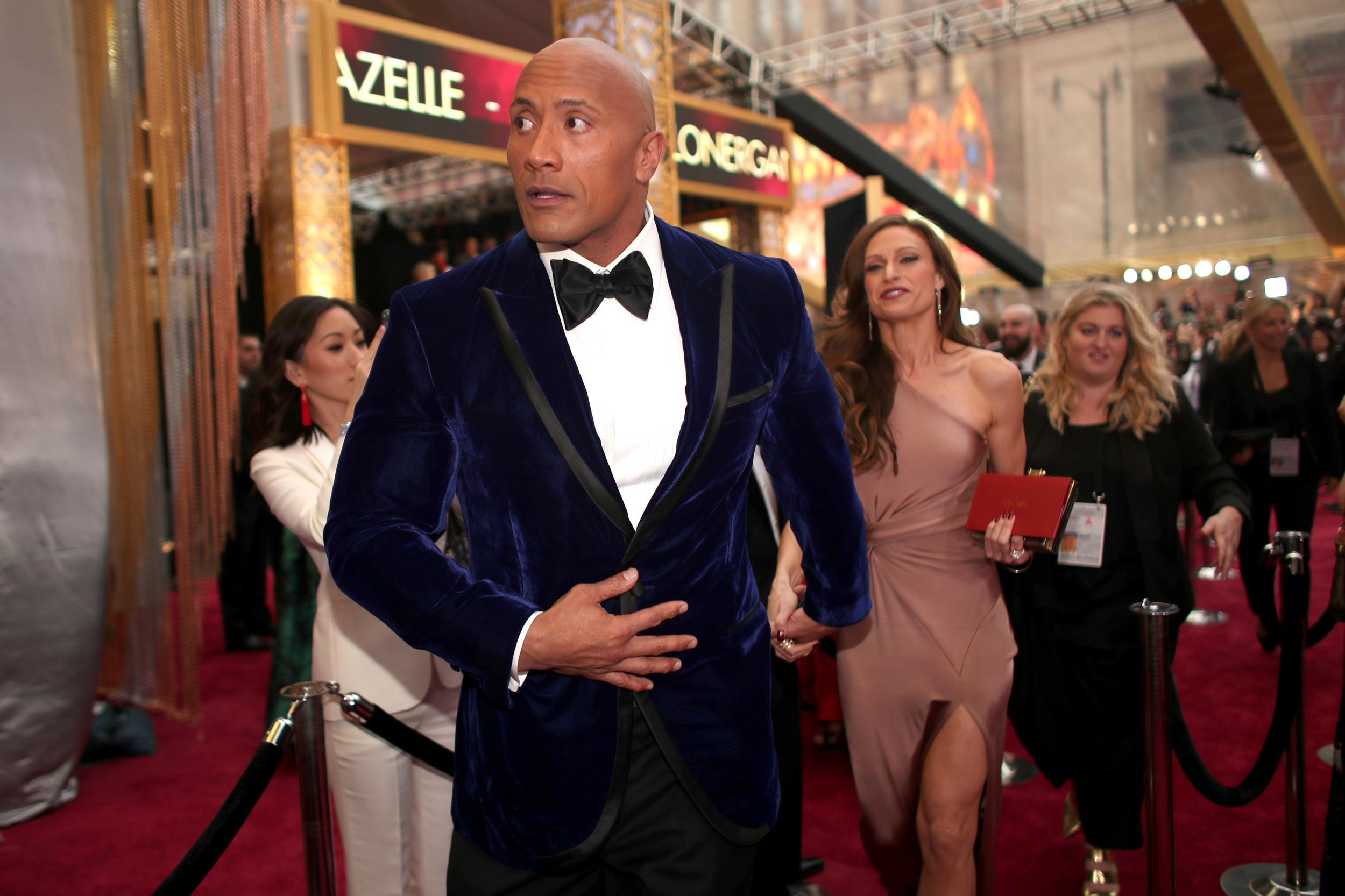 Dwayne johnson latest news breaking stories and comment the the two actors who broke from tradition to meet fans at the oscars m4hsunfo