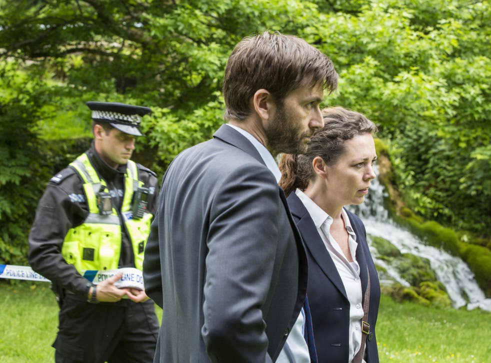 DI Alec Hardy (David Tennant) and DS Ellie Miller (Olivia Colman) working on the new case