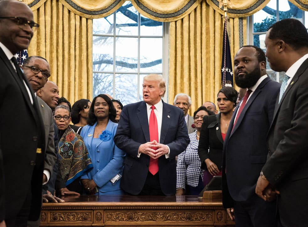Donald Trump was meeting with leaders of historically black colleges and universities