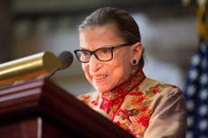 Ruth Bader Ginsburg assures supporters her 'health is fine' after fall