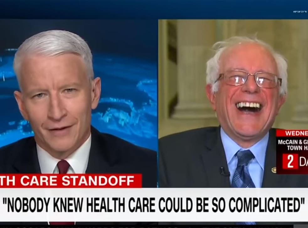Bernie Sanders says, 'Yeah, we had a clue' in response to the President's claim