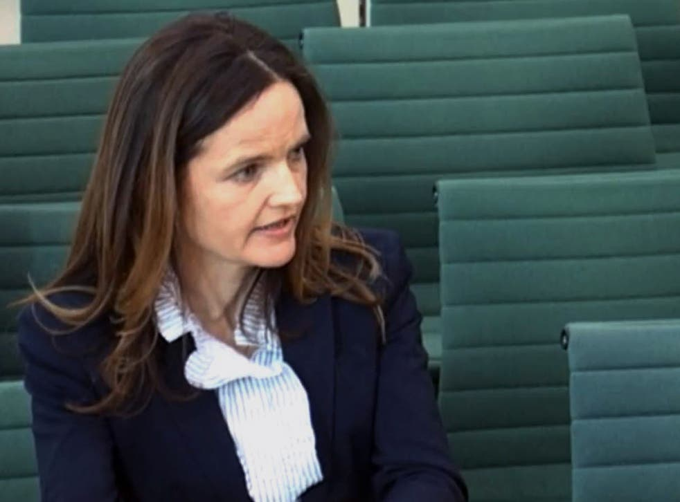 Bank of England deputy governor Charlotte Hogg at her meeting with the Treasury Select Committee last week