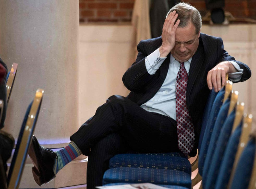 Nigel Farage said he wouldn't 'particulalry' want a knighthood and has no desire to sit in the Lords