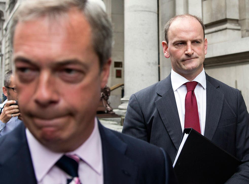 Nigel Farage called for Douglas Carswell to be ousted for trying to damage Ukip