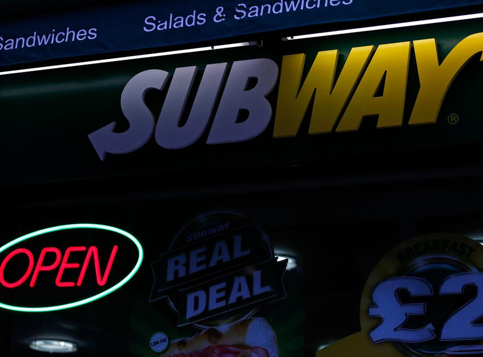 The two Subway sandwiches were the worst offenders