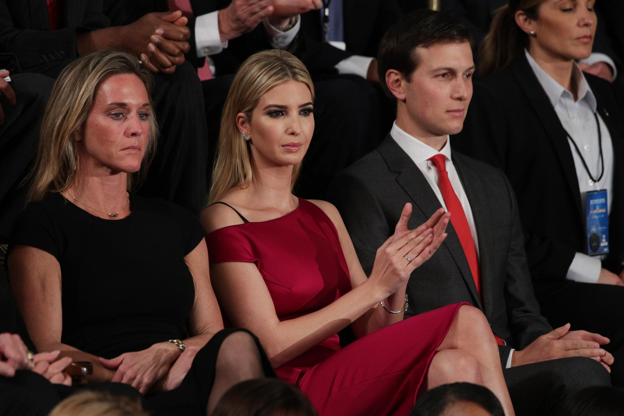 Trump says 'buy American' while Ivanka wears French designer dress
