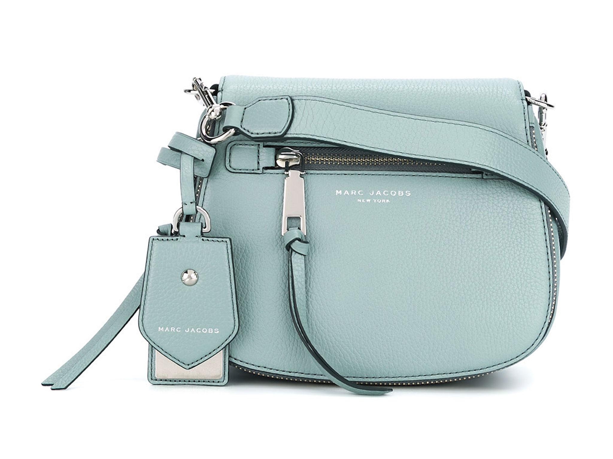We love the icy blue colour of this small satchel bag from Marc Jacobs that  just oozes springtime verve. Fitted with an adjustable, detachable shoulder  ... 88a9d714b2
